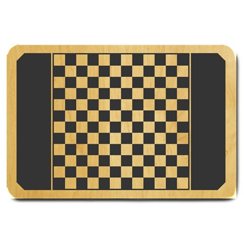 Canadian Checkers Board By Andrew Hunn   Large Doormat   7idgqta1ej78   Www Artscow Com 30 x20 Door Mat - 1