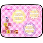 baby girl mini blanket - Double Sided Fleece Blanket (Mini)