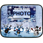 Winter Magic mini blanket, 1 side - Fleece Blanket (Mini)