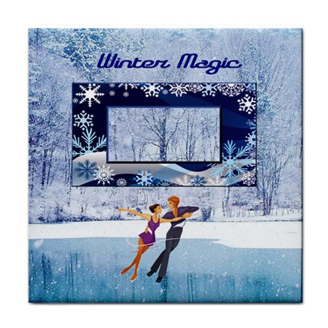 Winter Magic Face Towel By Joy Johns   Face Towel   Sa0n1a4hxqcn   Www Artscow Com Front