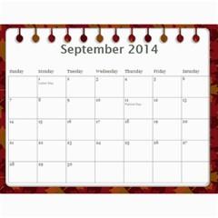 Erich Calendar By Sheri Mueller   Wall Calendar 11  X 8 5  (12 Months)   M7sej5yzo68n   Www Artscow Com Sep 2014
