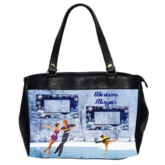 Winter Magic Office Bag, 2 Sides By Joy Johns   Oversize Office Handbag (2 Sides)   Io1qf0lpddy5   Www Artscow Com Front