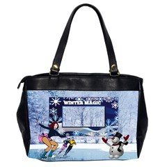 Winter Magic Office Bag, 2 Sides By Joy Johns   Oversize Office Handbag (2 Sides)   Io1qf0lpddy5   Www Artscow Com Back
