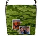 Camouflage Messenger Bag (LG) - Flap Closure Messenger Bag (Large)