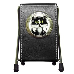 Curiouskitties414 Stationery Holder Clock