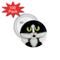 Tuxedo Cat By Bihrle 1 75  Button (100 Pack) by AmyLynBihrle
