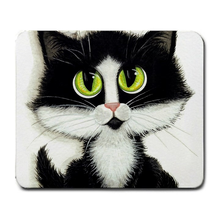 Tuxedo Cat by BiHrLe Large Mouse Pad (Rectangle)