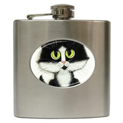Tuxedo Cat By Bihrle Hip Flask by AmyLynBihrle
