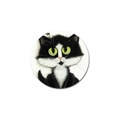 Tuxedo Cat By Bihrle Golf Ball Marker 4 Pack by AmyLynBihrle