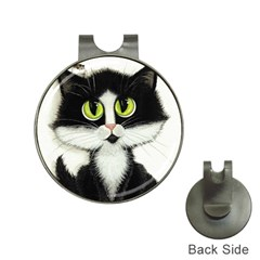 Tuxedo Cat By Bihrle Hat Clip With Golf Ball Marker by AmyLynBihrle