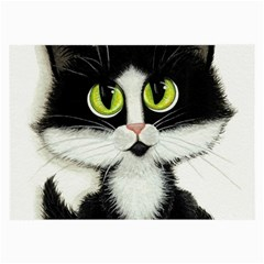 Tuxedo Cat By Bihrle Glasses Cloth (large) by AmyLynBihrle