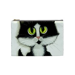 Tuxedo Cat By Bihrle Cosmetic Bag (medium) by AmyLynBihrle