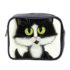 Tuxedo Cat By Bihrle Mini Travel Toiletry Bag (two Sides) by AmyLynBihrle