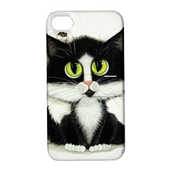 Tuxedo Cat By Bihrle Apple Iphone 4/4s Hardshell Case With Stand by AmyLynBihrle