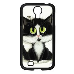 Tuxedo Cat By Bihrle Samsung Galaxy S4 (black) by AmyLynBihrle