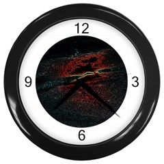 TECHNO WALL CLOCK (BLACK) Wall Clock (Black) by AllisonMODERNCLOCKS