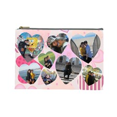 Chanies Goodbye Prez By Batsheva Beck   Cosmetic Bag (large)   S1urub5p47b5   Www Artscow Com Front