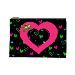 Love Large Cosmetic Bag By Joy Johns   Cosmetic Bag (large)   Cpjg1jhrrckj   Www Artscow Com Front