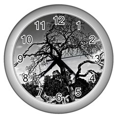 Dead Tree Wall Clock (silver) by designsbyvee