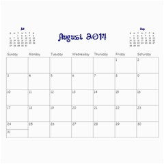 Calendario 2014 By Edna   Wall Calendar 11  X 8 5  (12 Months)   2mogwaiyflj9   Www Artscow Com Aug 2014