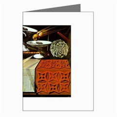 Salvador Dali - Table Greeting Card by DesignMonaco