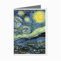 Vincent Van Gogh - Starry Night Mini Greeting Card by DesignMonaco