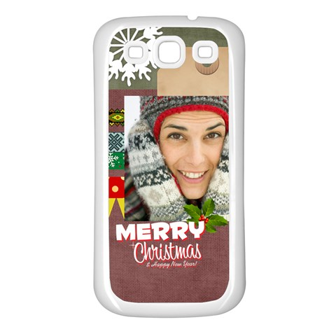 Xmas By Merry Christmas   Samsung Galaxy S3 Back Case (white)   Rwzyh2r7twe4   Www Artscow Com Front