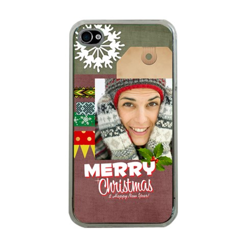 Xmas By Merry Christmas   Apple Iphone 4 Case (clear)   7qp2yi884208   Www Artscow Com Front