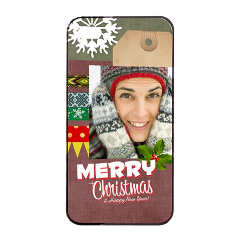 Xmas By Merry Christmas   Apple Iphone 4/4s Seamless Case (black)   Ka51n1o72pj4   Www Artscow Com Front