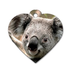 Koala Dog Tag Heart (one Sided)  by vipahi