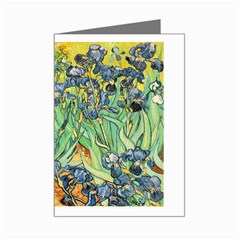 Vincent Van Gogh - Irises Mini Greeting Card by DesignMonaco
