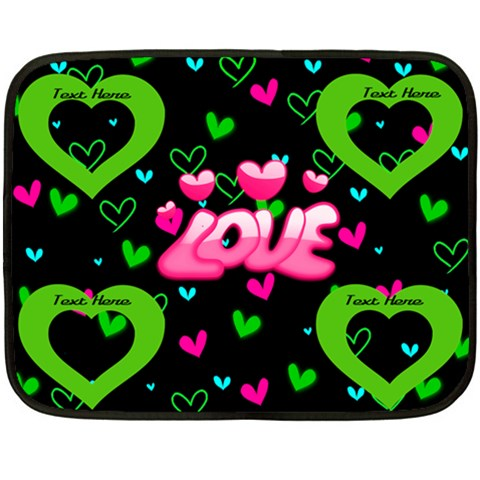 Love Mini Fleece Blanket, One Side By Joy Johns   Fleece Blanket (mini)   O21b3ydlj1yu   Www Artscow Com 35 x27 Blanket