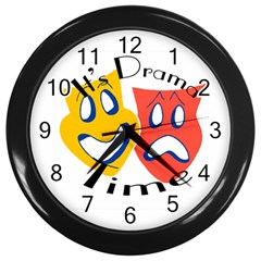 Drama Time Clock Wall Clock (Black) by mmross