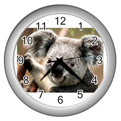 Koala Wall Clock (silver) by vipahi