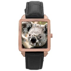 Koala Rose Gold Leather Watch  by vipahi