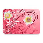Red Floral Plate Mat