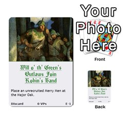Robin Hood Cards (outlaw And King Decks) By Mark Johnson   Multi Purpose Cards (rectangle)   35mxy14yyzc4   Www Artscow Com Front 1