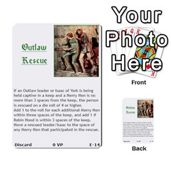 Robin Hood Cards (outlaw And King Decks) By Mark Johnson   Multi Purpose Cards (rectangle)   35mxy14yyzc4   Www Artscow Com Front 14
