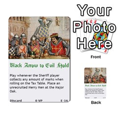 Robin Hood Cards (outlaw And King Decks) By Mark Johnson   Multi Purpose Cards (rectangle)   35mxy14yyzc4   Www Artscow Com Front 16