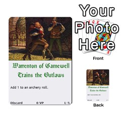 Robin Hood Cards (outlaw And King Decks) By Mark Johnson   Multi Purpose Cards (rectangle)   35mxy14yyzc4   Www Artscow Com Front 22
