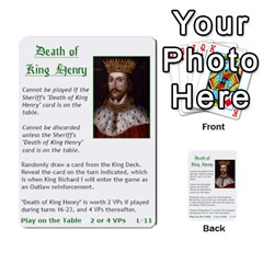 Robin Hood Cards (outlaw And King Decks) By Mark Johnson   Multi Purpose Cards (rectangle)   35mxy14yyzc4   Www Artscow Com Front 28