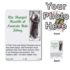 Robin Hood Cards (outlaw And King Decks) By Mark Johnson   Multi Purpose Cards (rectangle)   35mxy14yyzc4   Www Artscow Com Front 31