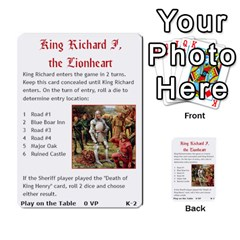 Robin Hood Cards (outlaw And King Decks) By Mark Johnson   Multi Purpose Cards (rectangle)   35mxy14yyzc4   Www Artscow Com Front 36