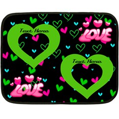 Love Min Blanket, 2 Sides By Joy Johns   Double Sided Fleece Blanket (mini)   16qpmjsxa72a   Www Artscow Com 35 x27 Blanket Front