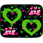 Love min blanket, 2 sides - Double Sided Fleece Blanket (Mini)