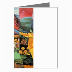 Juan Gris - Landscape at Ceret Greeting Card by DesignMonaco