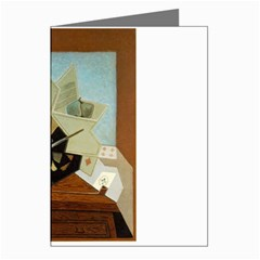Juan Gris - The Painter s Window Greeting Card by DesignMonaco