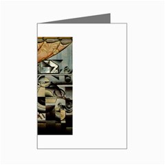 Juan Gris - Le Lavabo Mini Greeting Card by DesignMonaco