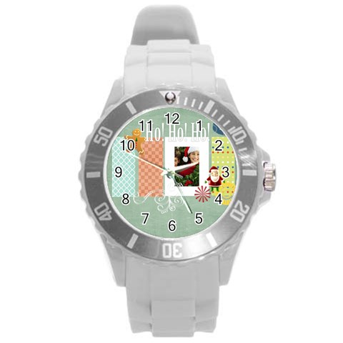 Xmas By Merry Christmas   Round Plastic Sport Watch (l)   Xzv6qsle5w9y   Www Artscow Com Front