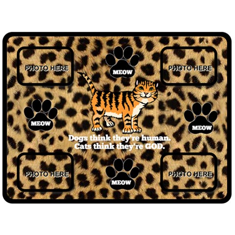 Meow Large Blanket By Joy Johns   Fleece Blanket (large)   Ydk1sq252gwp   Www Artscow Com 80 x60 Blanket Front